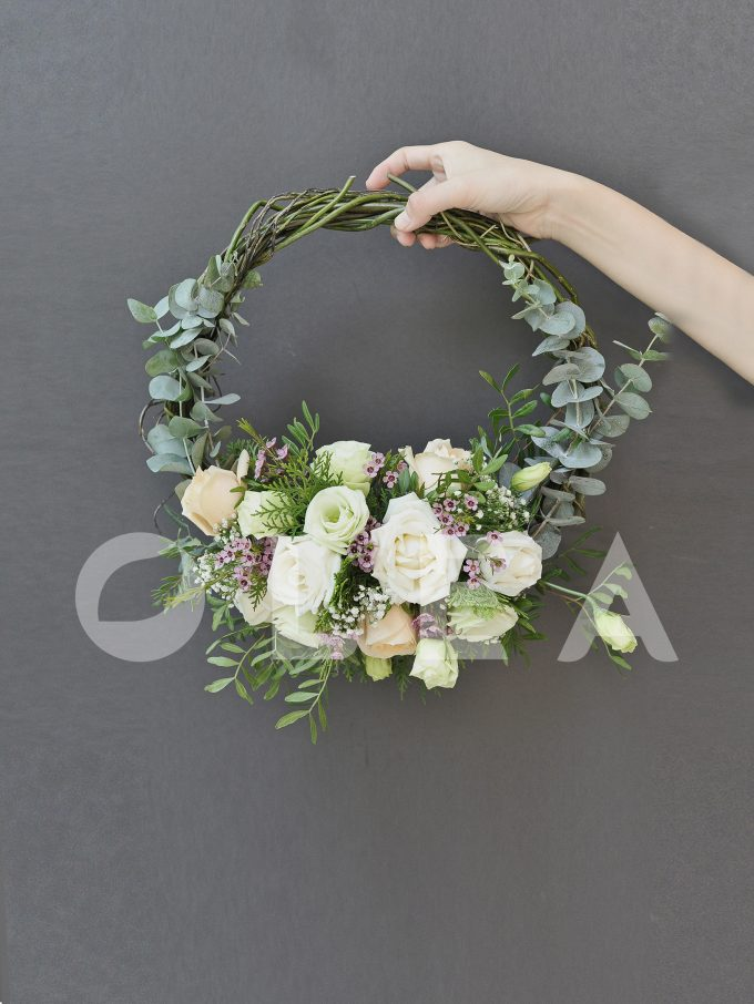 hoop bridal bouquet in KL