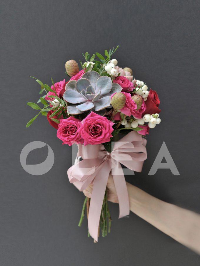Succulent bridal bouquet in KL