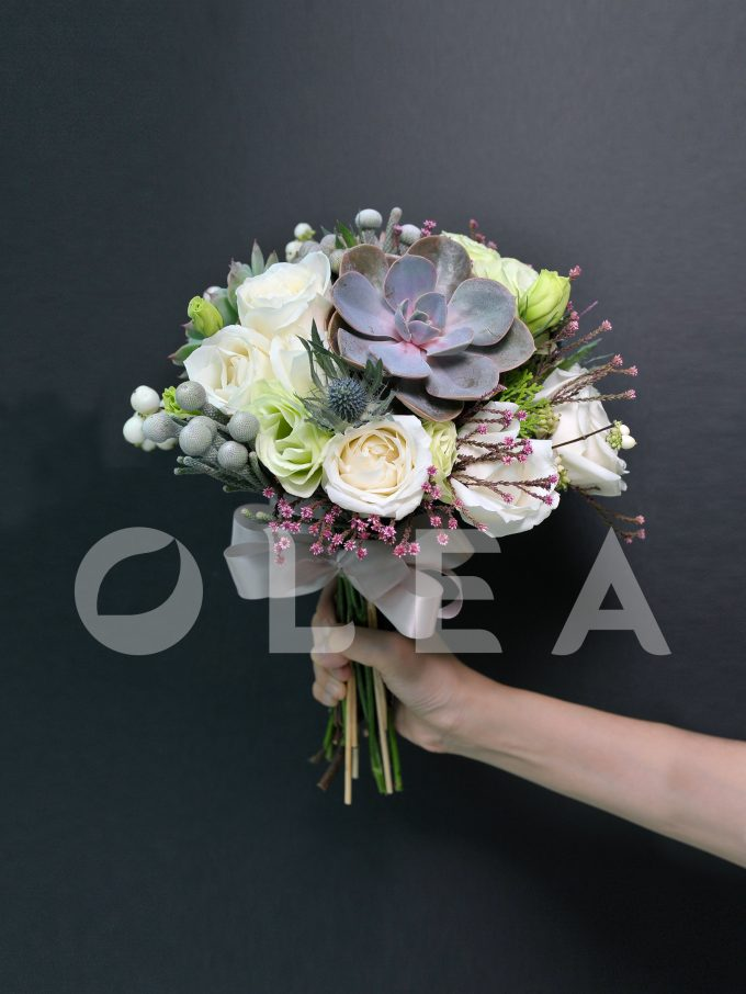 Succulent wedding bouquet in KL