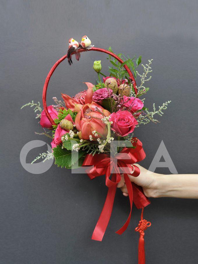 Oriental bridal bouquet in KL