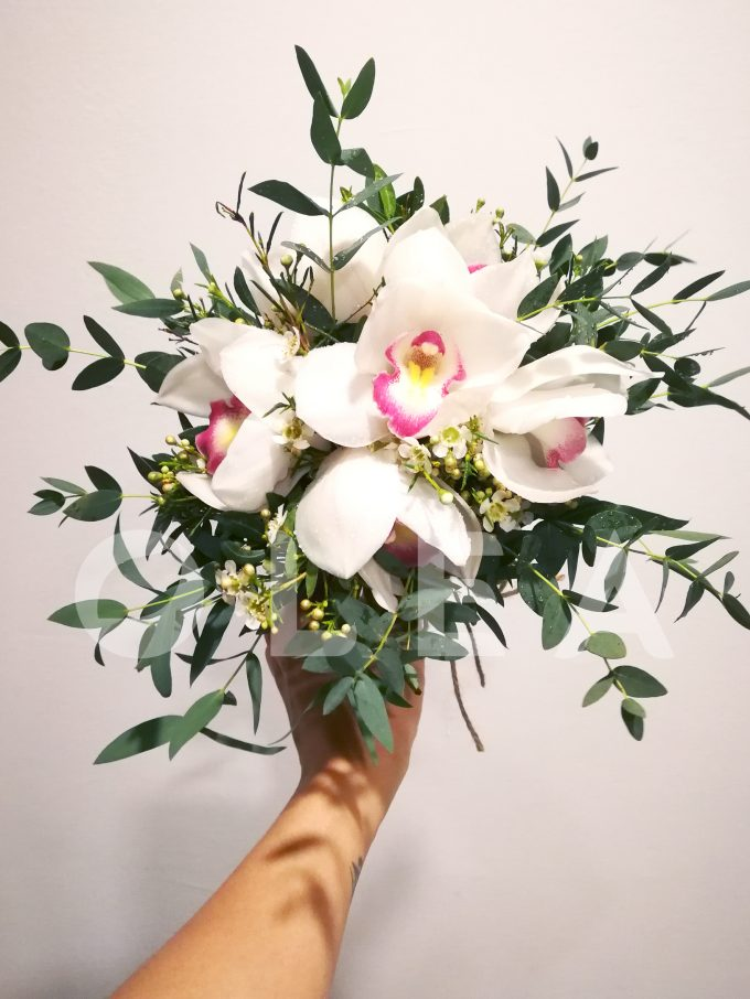 Orchid bridal bouquet in KL